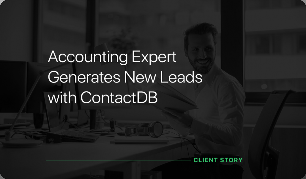 Accounting Expert Generates New Leads with ContactDB
