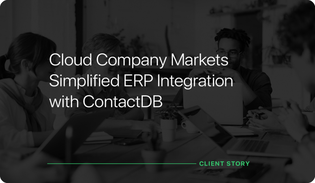 Cloud Company Markets SImplified ERP Integration with ContactDB